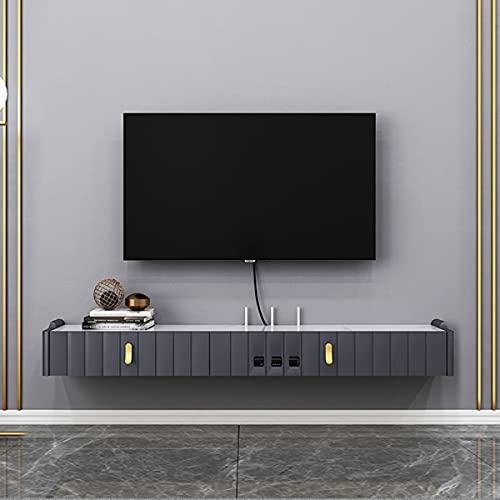 DSISI Centro DE Entretenimiento Montaje DE Entretenimiento Media Consola, ESTANTES DE TV flotantes para Caja de Cable/Xbox One/DVD Player/Game Console Sala de Estar Stroge Grande