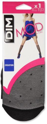 Dim Style Mini Media Fantasía Plumetis, Negro (Negro 127), One Size (Tamaño del fabricante:35/41) para Mujer