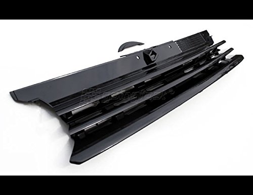 Kühler- Sport- Front- Rippen- Grill ohne Emblem Schwarz Eintragungsfrei mit Haubenfüllstück