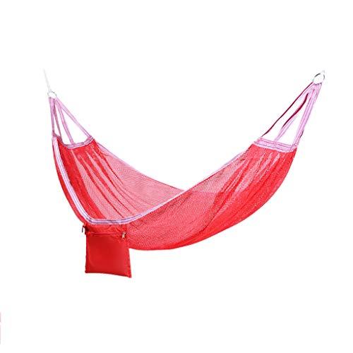 JGWHW Hamac Brésilien - Hamac Double pour Porche, Jardin, intérieur et extérieur - Tissu en Coton tissé extrêmement Confortable (Couleur : Rouge)