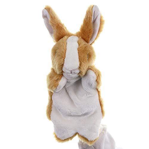 NUOBESTY Braune Hase Kaninchen Handpuppen Geschichtenerzählen Rollenspiel Phantasie Rollenspiel Party Spielzeug