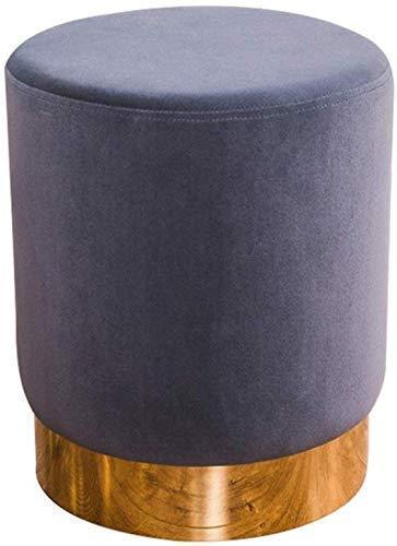 ZFFSC reposapiés acolchado vintage de terciopelo taburete de almacenamiento taburete taburete