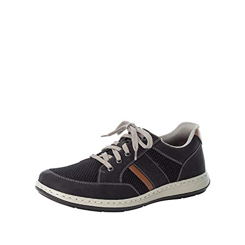 Rieker Hombre Zapatos Bajos 17310, de Caballero Zapatos Deportivos con Cordones,Plantilla Desmontable,Zapatilla,Negro (Schwarz / 00),47 EU / 12 EU