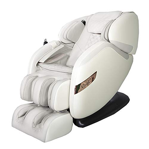 Osaki OS-Champ 2 Stages Zero Gravity Full-Body Massage Chair Recliner Heating on Lumbar 5 Auto Massage Programs (Cream & Taupe)