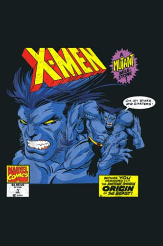 Marvel X Men The Beast A Mutant Milestone Comic: Notebook Planner - 6x9 inch Daily Planner Journal, To Do List Notebook, Daily Organizer, 114 Pages