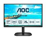 AOC 27B2AM - Monitor FHD da 27' (1920 x 1080, 75 Hz, VGA, HDMI), colore: Nero