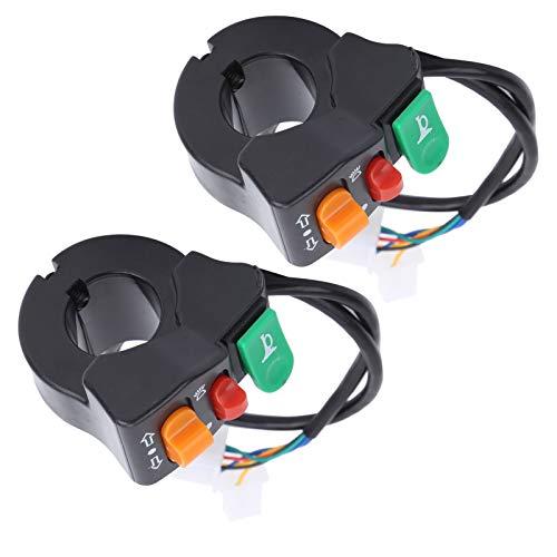 Interruptor de señales de giro universales Interruptor de bocina Práctico fácil de instalar, para scooters, para bicicletas eléctricas, para motocicletas