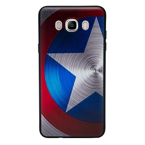 I-CHOOSE LIMITED 3D Marvel Funda/Carcasa del Teléfono para Samsung Galaxy J7 2017 Gel/TPU/Capitán América - Escudo