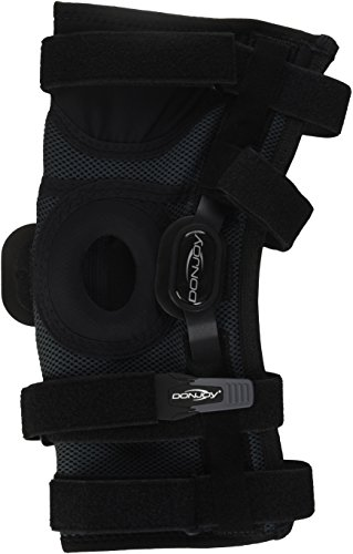 DonJoy Playmaker II Knee Support Brace with Patella Donut: Spacer Sleeve, Large