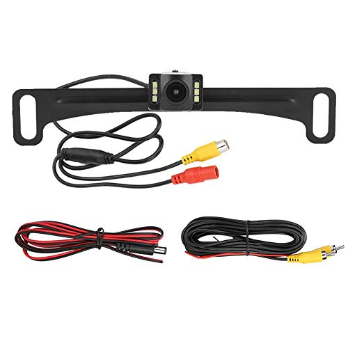 Qiilu Kentekencamera, 100% Gloednieuwe 12V Achteruitrijcamera Ip67 Waterdicht 720 X 540 Backup Monitoring Hoge gevoeligheid Auto-accessoires