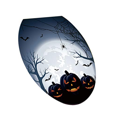Demino Halloween Party Thema Toilet Stickers Lijm Ovale PVC Decals Badkamer Enge griezelige Decoraties