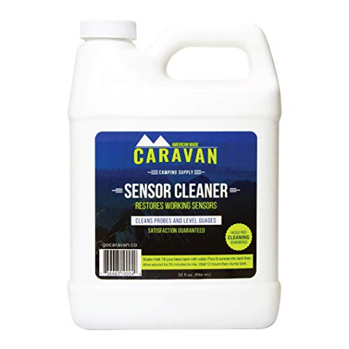 """Caravan """"overnight"""" RV Sensor and Tank CLEANER - Fix sensors, clear toilet and tank clogs, eco-friendly, probiotic bacteria enzyme formula, RV & marine, black & gray, microbial-based plumbing solution"""