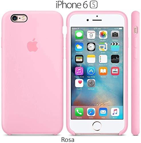 Funda Silicona para iPhone 6 y 6s Silicone Case, Calidad, Textura Suave, Forro Interno Microfibra (Rosa)