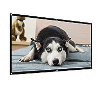 WJCCY プロジェクションスクリーンポータブルムービースクリーンポータブルプロジェクター映画スクリーン家庭用耐性プロジェクションスクリーン (Size : 84 inch)