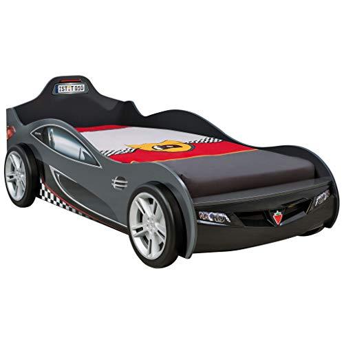 Cilek Kids Room Cup Black Twin Race Car Bed,