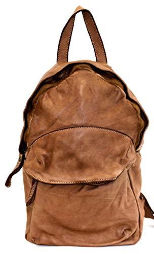 BZNA Bag Noah cognac Backpacker Designer Rucksack Damenhandtasche Schultertasche Leder Nappa ItalyNeu