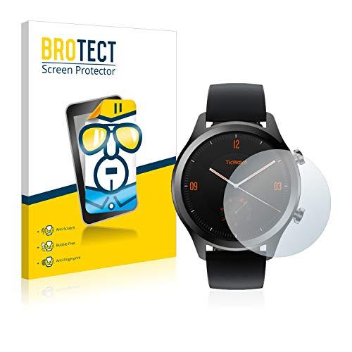 BROTECT Schutzfolie kompatibel mit Mobvoi Ticwatch C2 / E2 (2 Stück) klare Bildschirmschutz-Folie