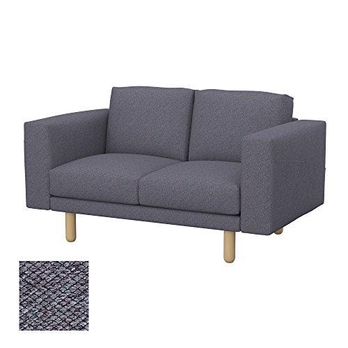 Soferia - IKEA NORSBORG Funda para sofá de 2 plazas, Nordic Anthracite