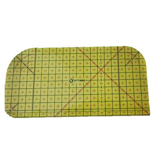 SiSit Hitzebeständig Patchwork Lineal, Näh Lineal Mit Rutschfester Oberfläche (nähzubehör lineal, 20 x 10 cm)