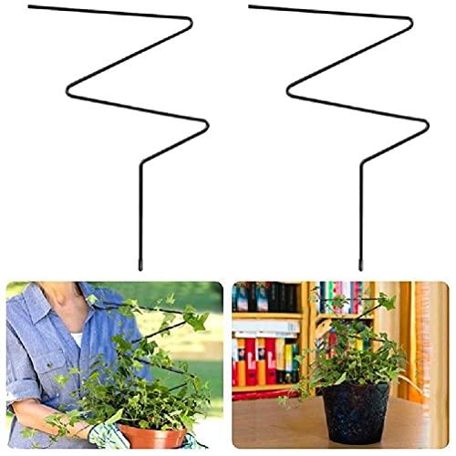 IRYNA 2 Stück Garten-Rankgitter für Kletterpflanzen, Eisenpflanzen, Rankgitter, Metallstützdraht, rostfrei, für Pflanzen und Kletterpflanzen, Halterung für Klettertomaten, Rankhilfe, Ring
