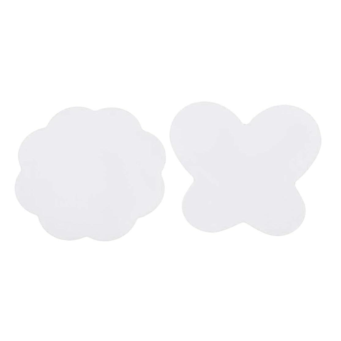 煩わしい自発的製品TOOGOO ネイルシリコンミキシングペイントパレットマット折り畳み式洗えるネイルアートスタンピングパッド-ローズホワイト