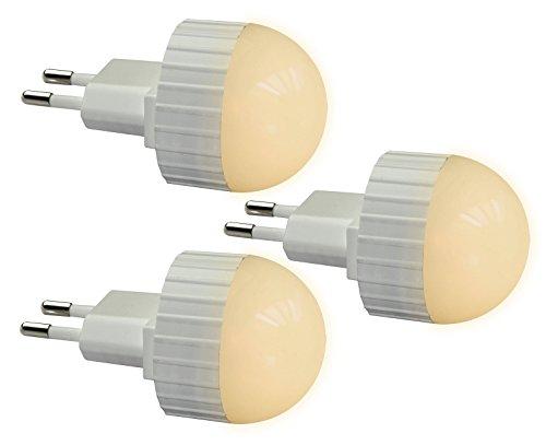 Trango 3er Pack LED Steckerlicht Wandlampe Steckdosenlampe Orientierungslicht Kinderlicht Nachtlicht Steckdose TG11-36L Sicherheitslicht mit Helligkeitssensor Auto AN/AUS