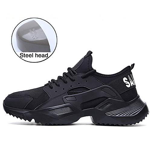 Heren veiligheidsschoenen stalen teen werkschoenen enkel trainers wandelaar beschermende tussenzool SRA/S1P,EU39/UK6.5