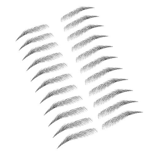 Qimao Frauen 3D Augenbrauen Aufkleber Tätowierung-Augenbraue wasserdichte Stereo Aufkleber Falsche Braue Dekoration, E17