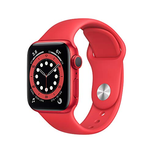 Amazon - New Apple Watch Series 6 (GPS, 40mm) - Red $329.98