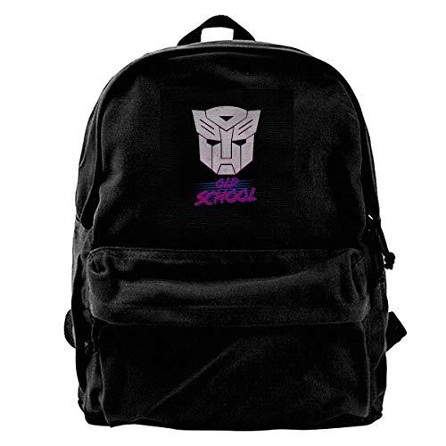 Haloxa Canvas Rucksack Old School TRAN-SFORMERS Autobot Logo Rucksack Gym Wandern Laptop Umhängetasche Daypack für Männer Frauen