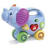 VTECH- Elephant Pousse Baby Jouet Premier Age, 80-513605, Multicolore - Version FR