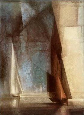 Leinwandbild - Lyonel Feininger - Stiller Tag am Meer - 51 x 69cm - Premiumqualität - Kunstdruck auf Leinwand - Klassische Moderne - Abstrakt - Segelboote - MADE IN GERMANY- Art Galerie Shop