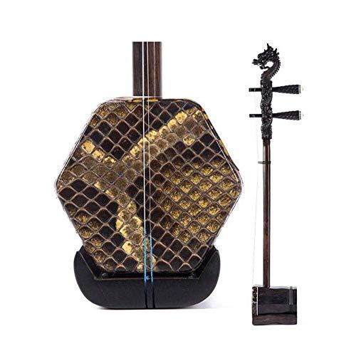 Erhu, Ebony Erhu, Erwachsene Professionelle Leistung Erhu, handgemachte Sechs-Parteien-Erhu, nationale Musikinstrument, Geschenk-Box mit Rosin Begleit Hard Case (Größe: 81 * 13cm) DUZG