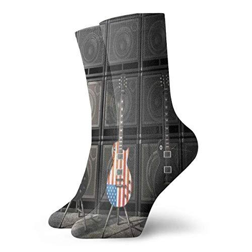 Unisex-Socken für Bassgitarre, elektronisch, atmungsaktiv, für Laufen, Wandern, Wochenendsport, Sport, Athletik, 30 cm