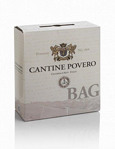 Bag in Box 5 lt. Cantine Povero - Vino rosso da uve Grignolino