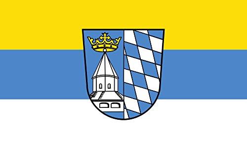 Unbekannt magFlags Tisch-Fahne/Tisch-Flagge: Altötting (Kreis) 15x25cm inkl. Tisch-Ständer