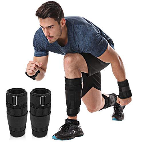DOBEN Handgewichte & Fußgewichte zum Joggen (1kg 2kg 3kg), Gewichtsmanschetten Stahl - Knöchelgewichte für Hand- & Fußgelenke,Fußgewichte Einstellbar