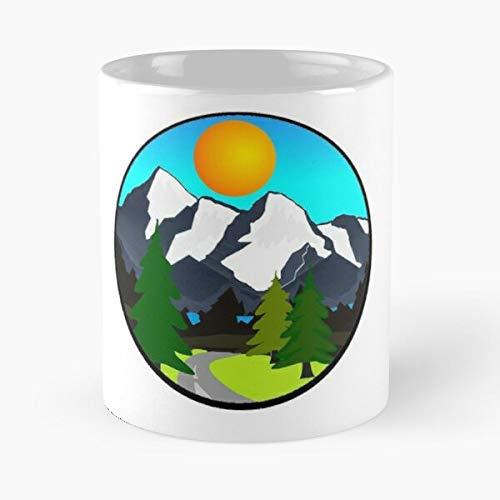 California Ansel Grand Nevada Day Tetons Forest Canada Earth Adams Nature Sierra Eat Food Bite John Best Taza de café de cerámica de 325 ml