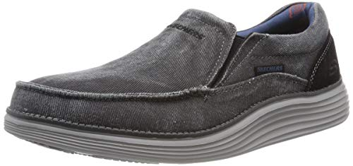 Skechers Men's Status 2.0-Mosent Moccasins, Black (Black Blk), 8 UK (42 EU)