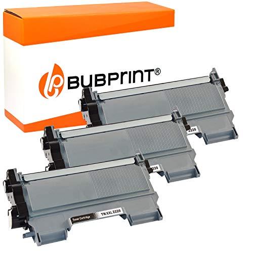 3 Bubprint Toner kompatibel für Brother TN-2220 TN-2010 MFC-7360N DCP-7055 HL-2130 DCP-7065DN Fax 2840 HL-2270DW MFC-7460DN MFC-7860DW TN2220 schwarz