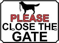ゲートを閉じてくださいブリキ看板壁の装飾金属ポスターレトロプラーク警告サインオフィスカフェクラブバーの工芸品