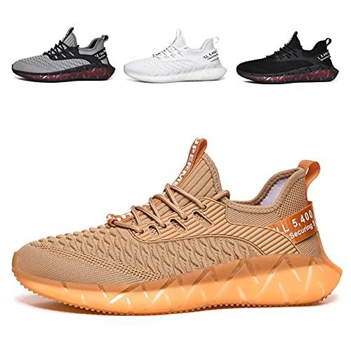 FASHIONABLE Chaussures de Sport Homme Femme Chaussures de Sport Running Chaussures de Course légères et élégantes Noir Blanc Gris Or G156 Golden 39EU