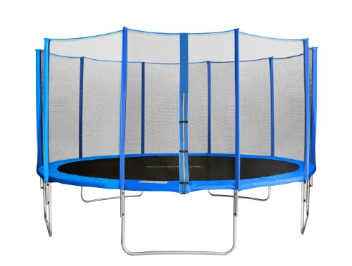 SixBros. SixJump 4,30 M Trampolín Cama elástica de jardín Azul - la Red de Seguridad - CST430/L1760