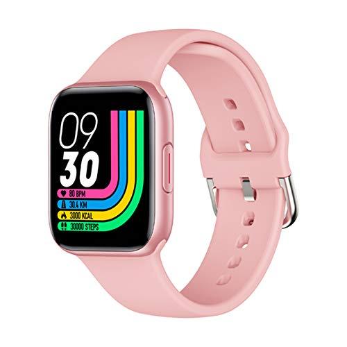 AKY Smart Watch QY01, Pantalla táctil de Color Rastreador de Fitness para Hombre Pulsera Inteligente Tasa del corazón de Las Mujeres y Banda de presión Arterial con iOS Andriod,A