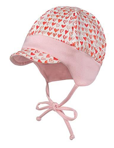 maximo Baby-Mädchen Jerseymütze Mütze, Mehrfarbig (Weiß-Rot-Punkte 3), (Herstellergröße: 45)