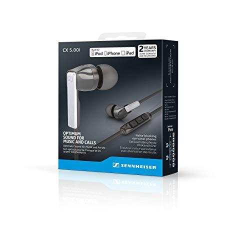 Preisvergleich Produktbild Sennheiser CX 5.00i In-Ear Kopfhörer (mit integriertem Mikrofon) schwarz