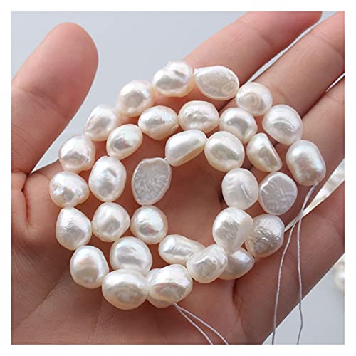GuanRo Perlas Naturales Naturales simbolizan Perlas Sueltas Que simbolizan el Amor y la Suerte, solían Hacer Accesorios de Perlas Sueltas para Joyas, Pulseras y Collares (9-12 mm)