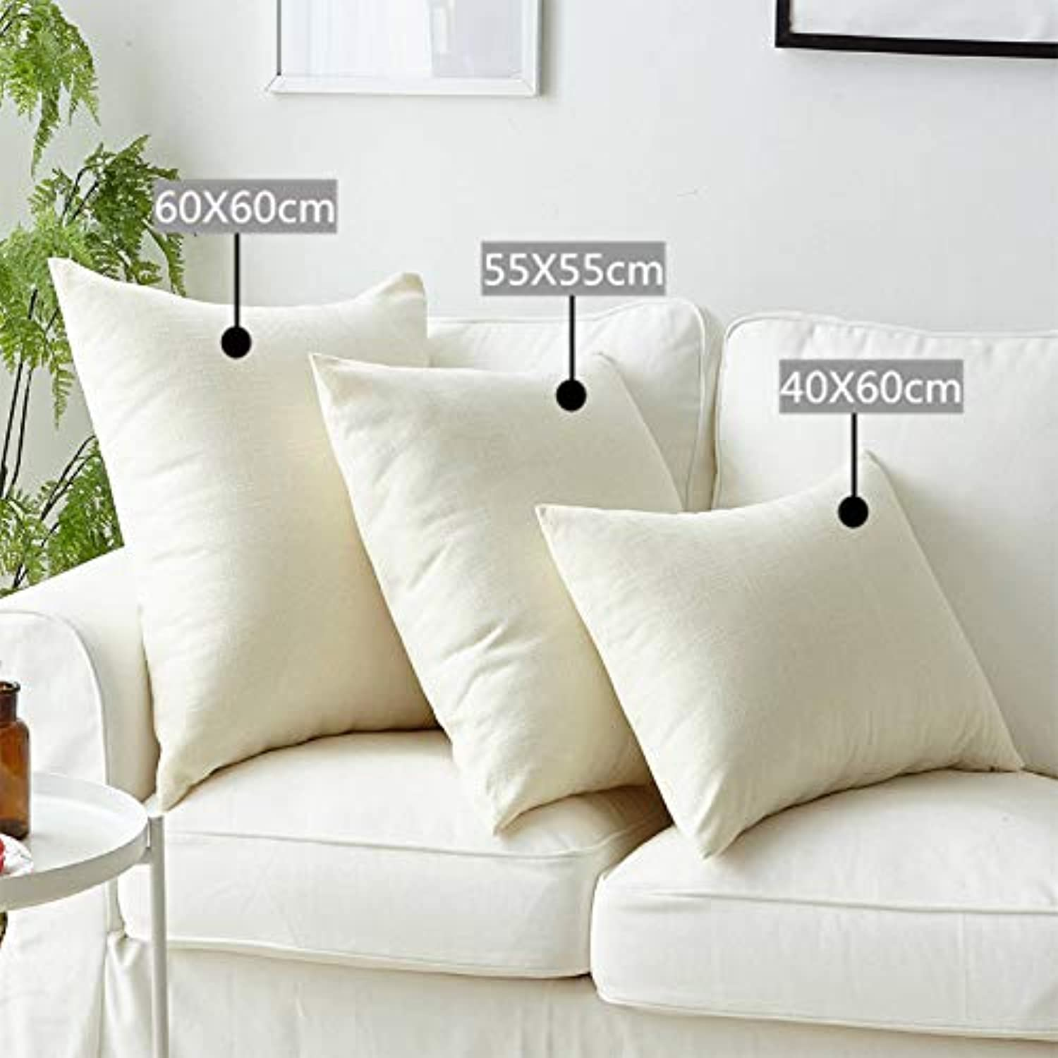 SHLMM 3 Packs Linen Pure color Throw Pillow Different Cushion Suitable for Sofa Bed Cars Multifunctional Cushion for Home