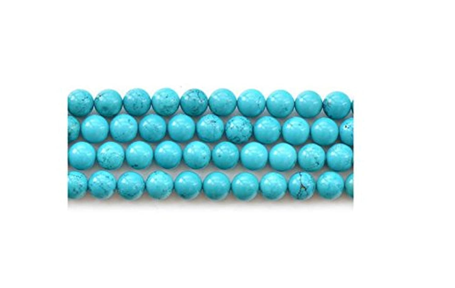 Asingeloo Howlite Turquoise Round Loose Beads Gemstone 15 Inch 10mm Crystal Energy Stone Healing Power for Jewelry Making