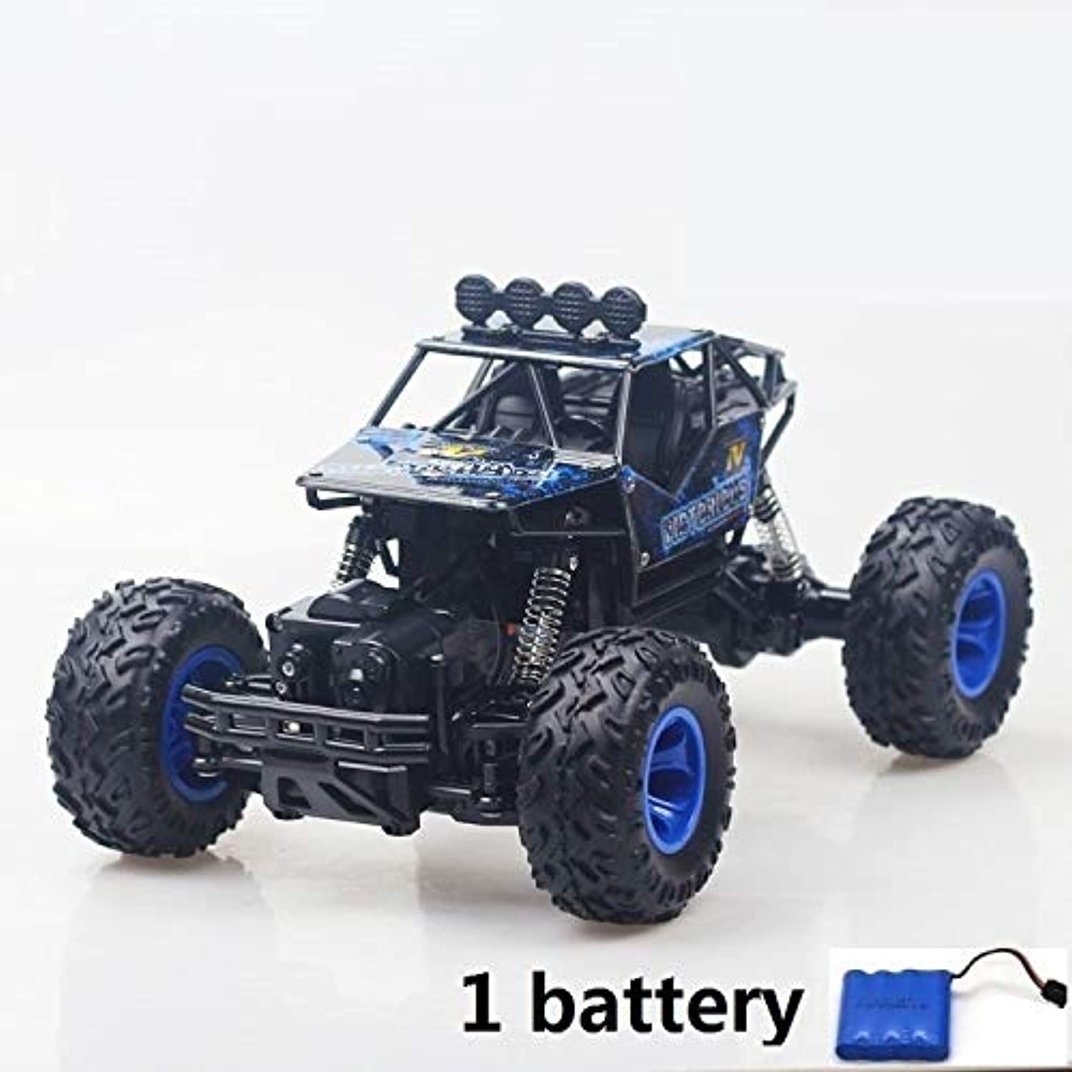 Generic 1 12 RC Car 4WD Climbing Car 4x4 Double Motors Drive Bigfoot Car Remote Control Model OffRoad Vehicle oys for Boys Kids 28cm 1 Battery bluee